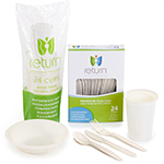 Compostable Cutlery, Plates, Bowls & Cups
