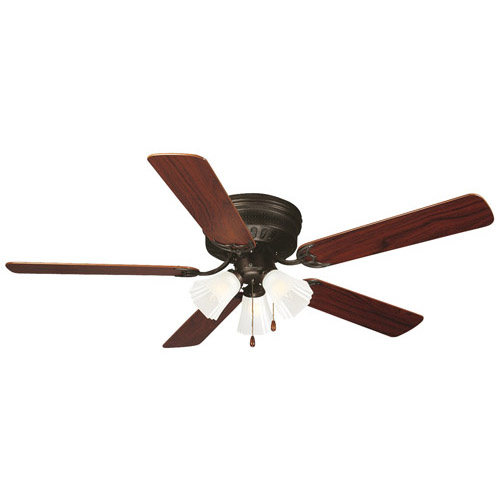 Design House Millbridge 52 inch 3-Light 5-Blade Hugger Mount Ceiling Fan, Oil Rubbed Bronze Finish - 153411
