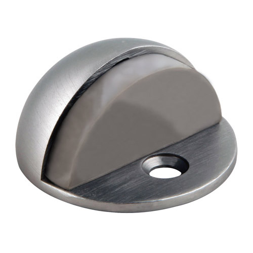 Design House Floor Mounted Dome Shaped Door Stop, Satin Nickel Finish - 204735