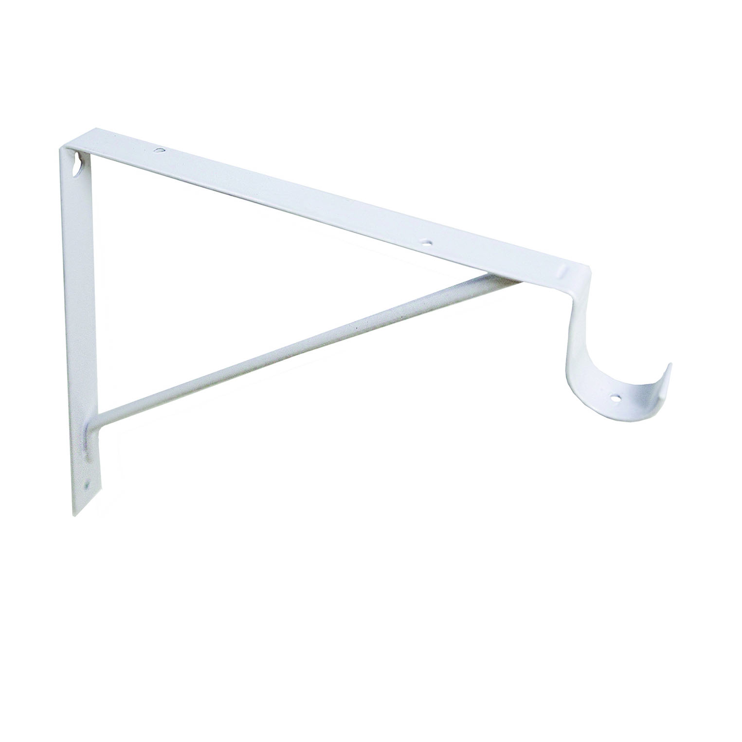 Design House 11 in. Shelf Rod Bracket, White - 205799