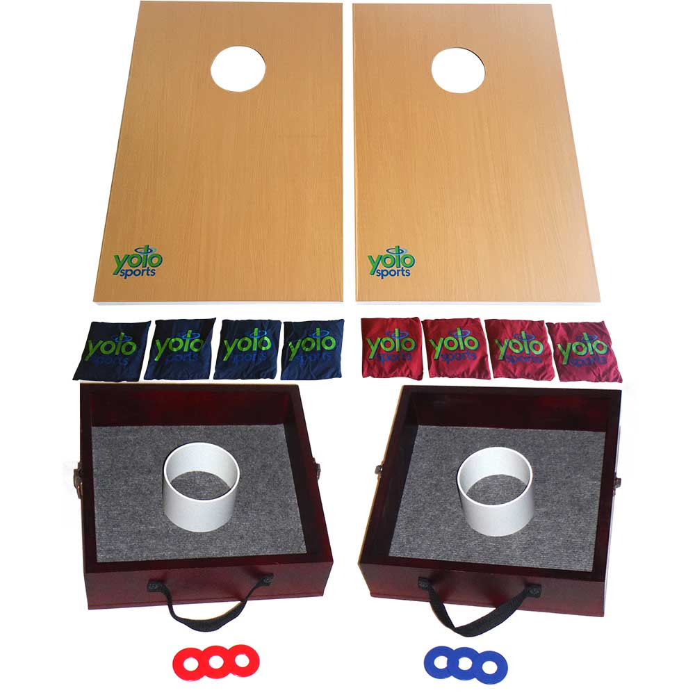 Yolo Sports Lawn Game Duo, Washer Toss & Cornhole - 207105