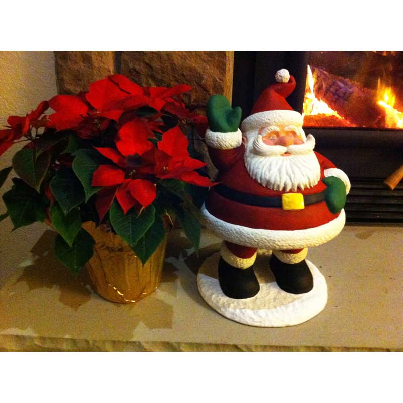 Design House 15.5 in. Santa Bobble Lawn Holiday Christmas Decoration - 319723