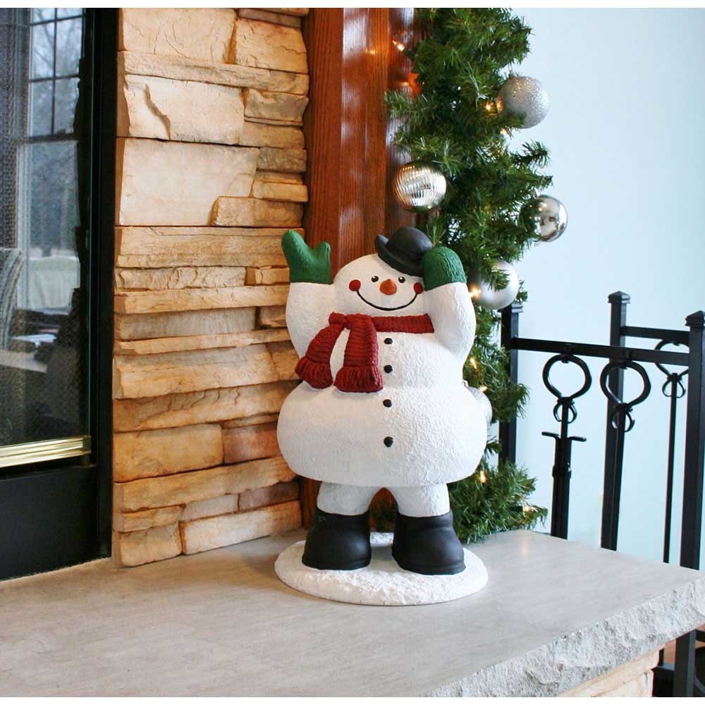 Design House 16.3 in. Snowman Bobble Lawn Holiday Christmas Decoration - 319731
