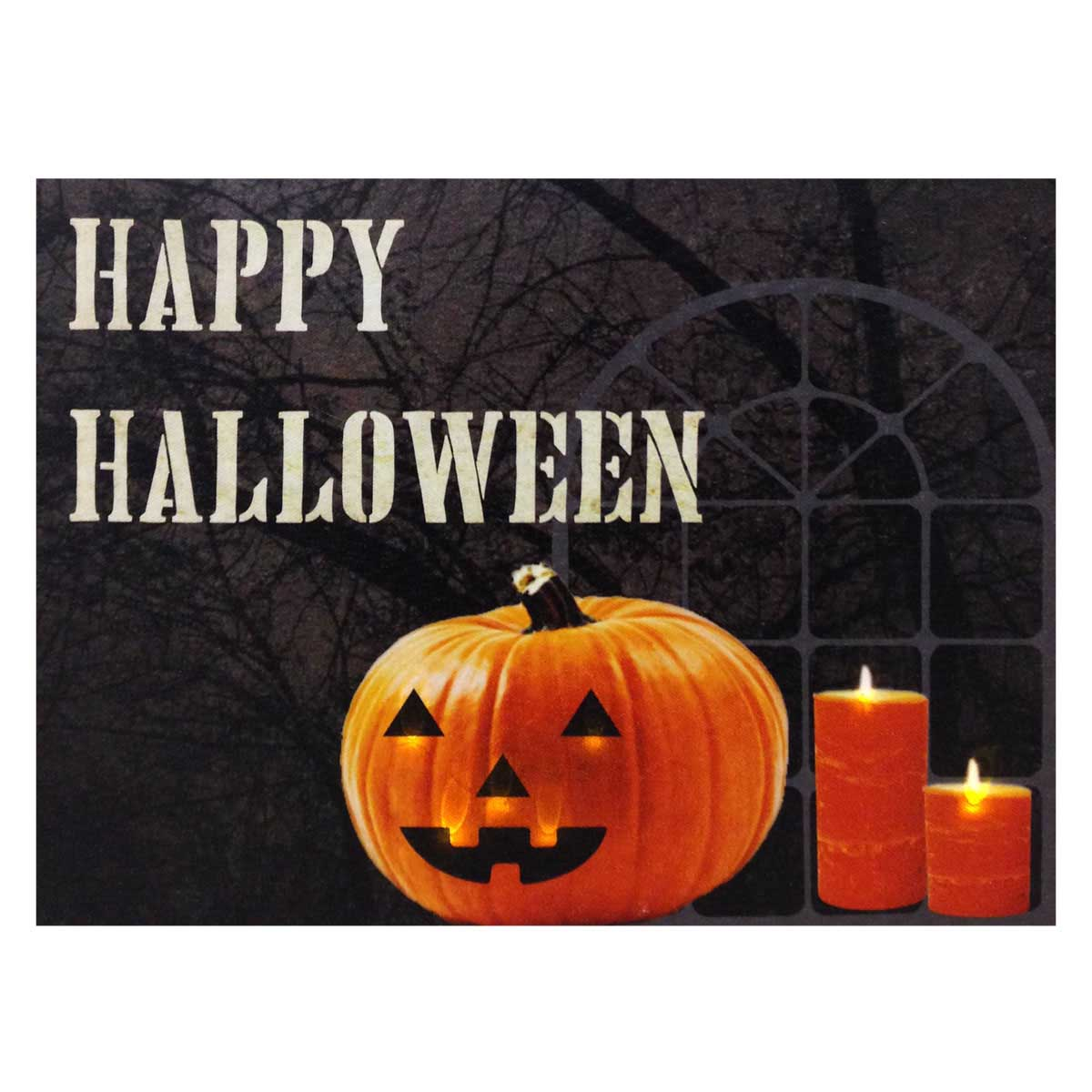 Design House Happy Halloween Lit Canvas Wall Decoration, 18x24-inches - 319772