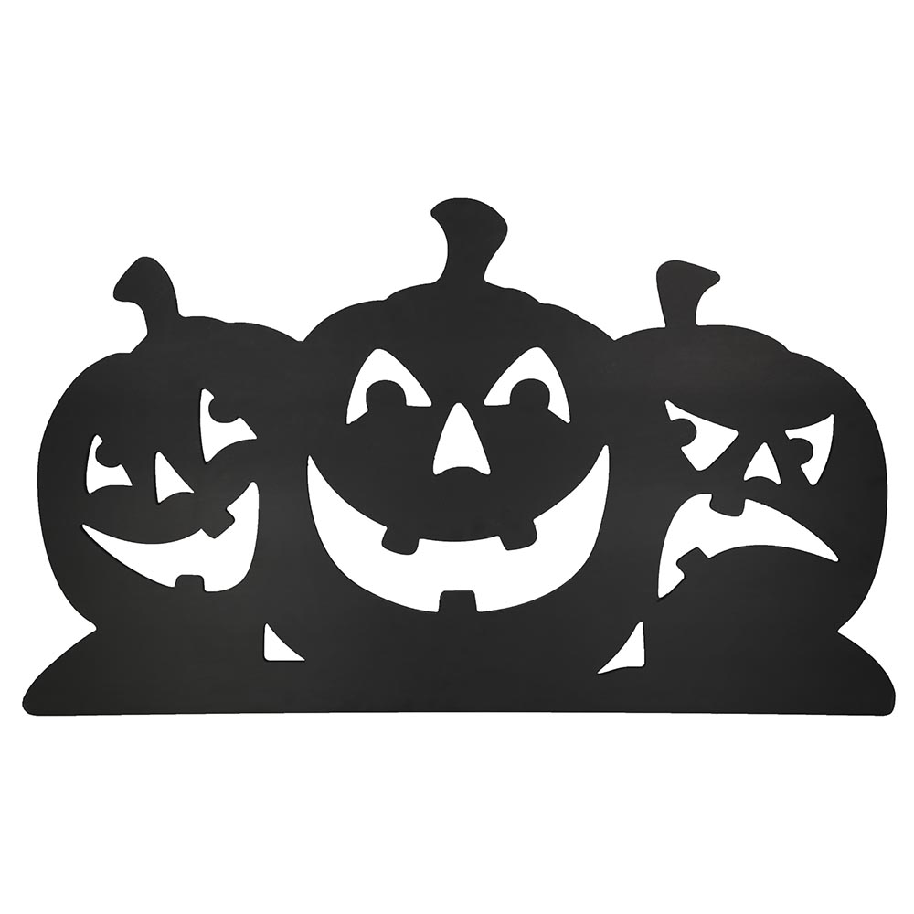 Design House Black Pumpkin Silhouettes Lawn Halloween Decoration, 23x40-Inches - 319871