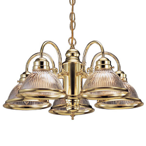 Design House Millbridge 5-Light Chandelier, Polished Brass Finish - 500546
