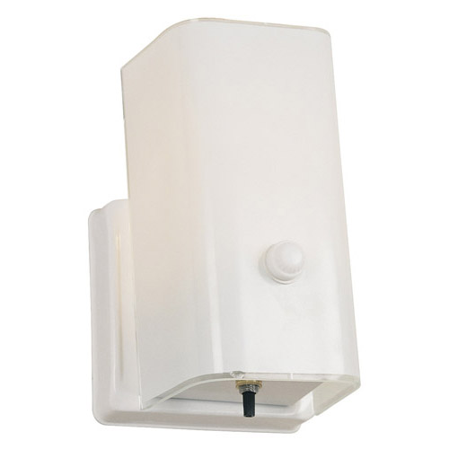 Design House 1-Light Wall Sconce with Switch, White Finish - 501130