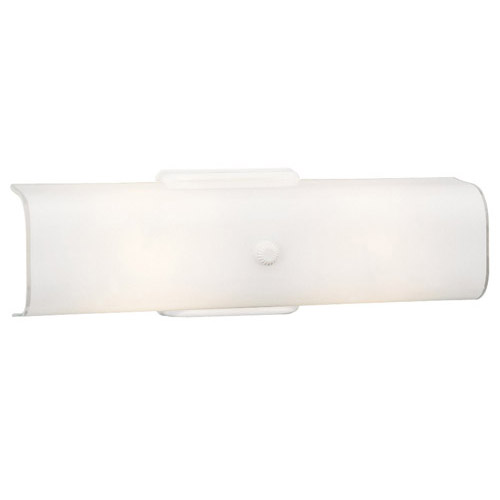 Design House 2-Light Wall Sconce, White Finish - 501452