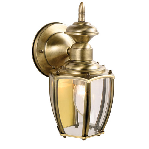 Design House Jackson Outdoor Downlight, 5.5inch by 10.875inch, Antique Brass Finish - 501478