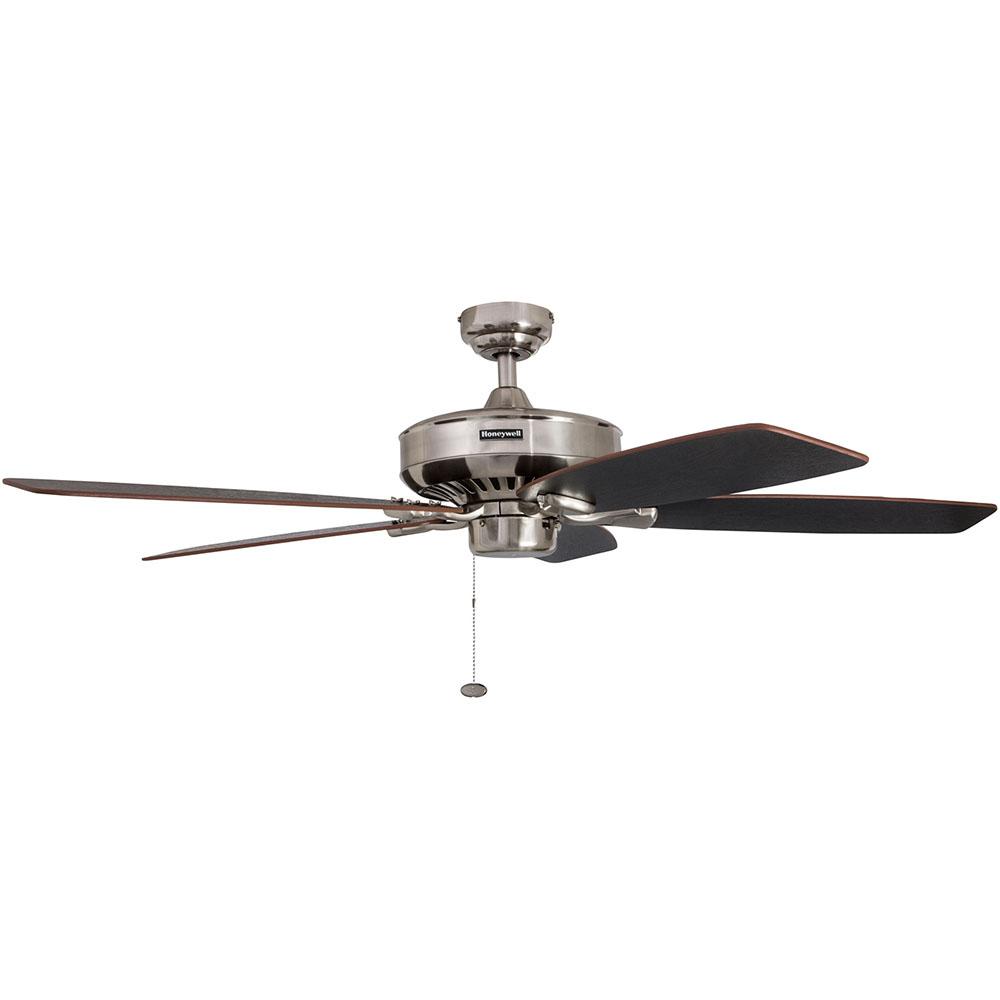 Honeywell Birnham Ceiling Fan Brushed Nickel Finish 52