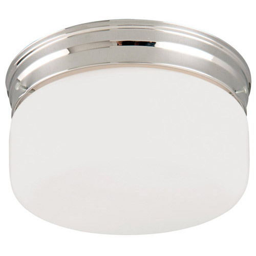 Design House 2-Light White Opal Ceiling Mount, Chrome Finish - 501965