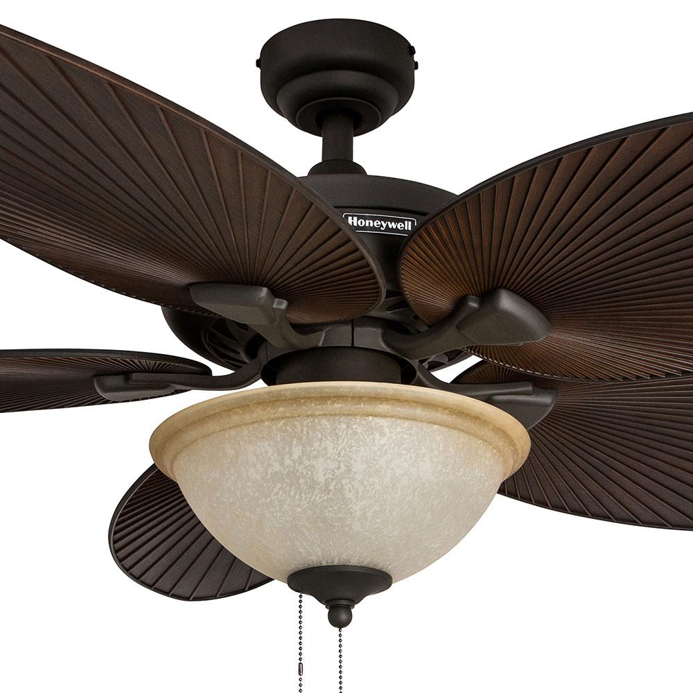 Honeywell Palm Island Ceiling Fan Bronze Finish 52 Inch