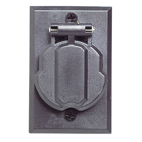 Design House Replacement Electrical Outlet for Outdoor Lamp Post, Black Finish - 502112