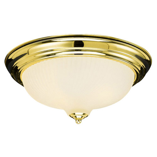 Design House 2-Light Ceiling Mount, Polished Brass Finish - 502153