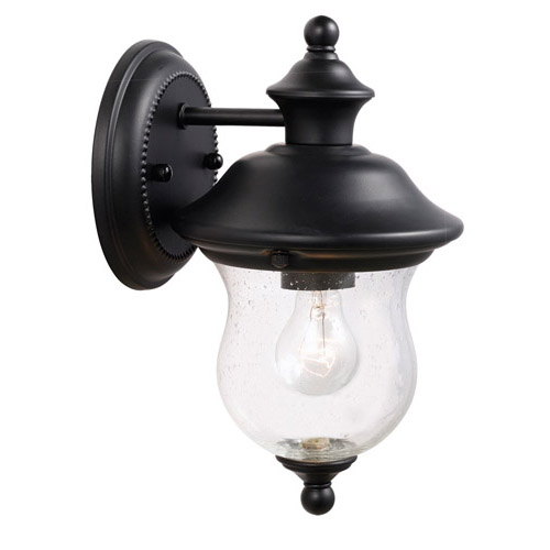 Design House Highland Outdoor Downlight, 6inch by 10.625inch, Black Finish - 502906