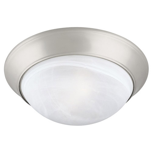 Design House 2-Light Ceiling Mount Twist Off, Satin Nickel Finish - 503201