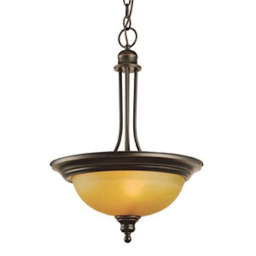 Design House Bristol 2-Light Pendant, Oil Rubbed Bronze Finish - 504266