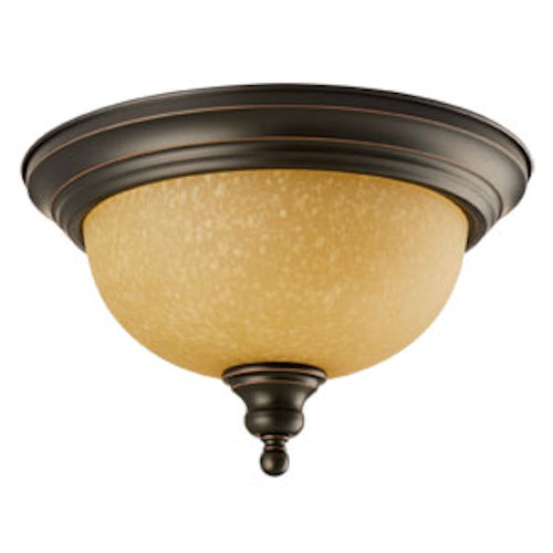 Design House Bristol 2-Light Ceiling Mount, Oil Rubbed Bronze Finish - 504399