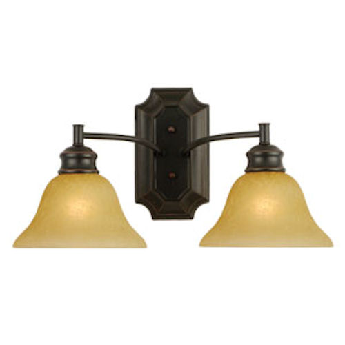 Design House Bristol 2-Light Wall Sconce, Oil Rubbed Bronze Finish - 504407