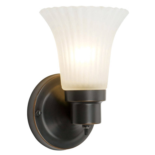 Design House The Village 1-Light Wall Sconce, Oil Rubbed Bronze Finish - 505115