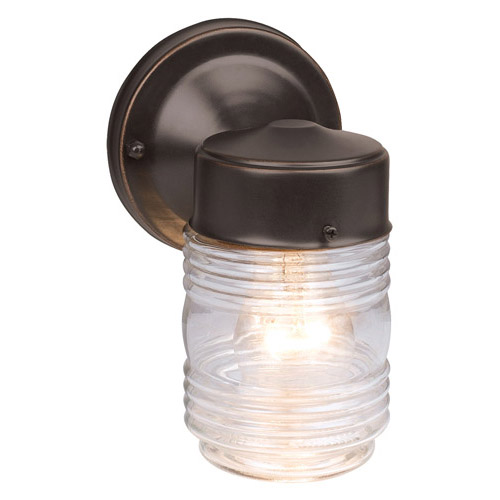 Design House Jelly Jar Outdoor Downlight, 4.5inch by 7.5inch, Oil Rubbed Bronze Finish - 505198