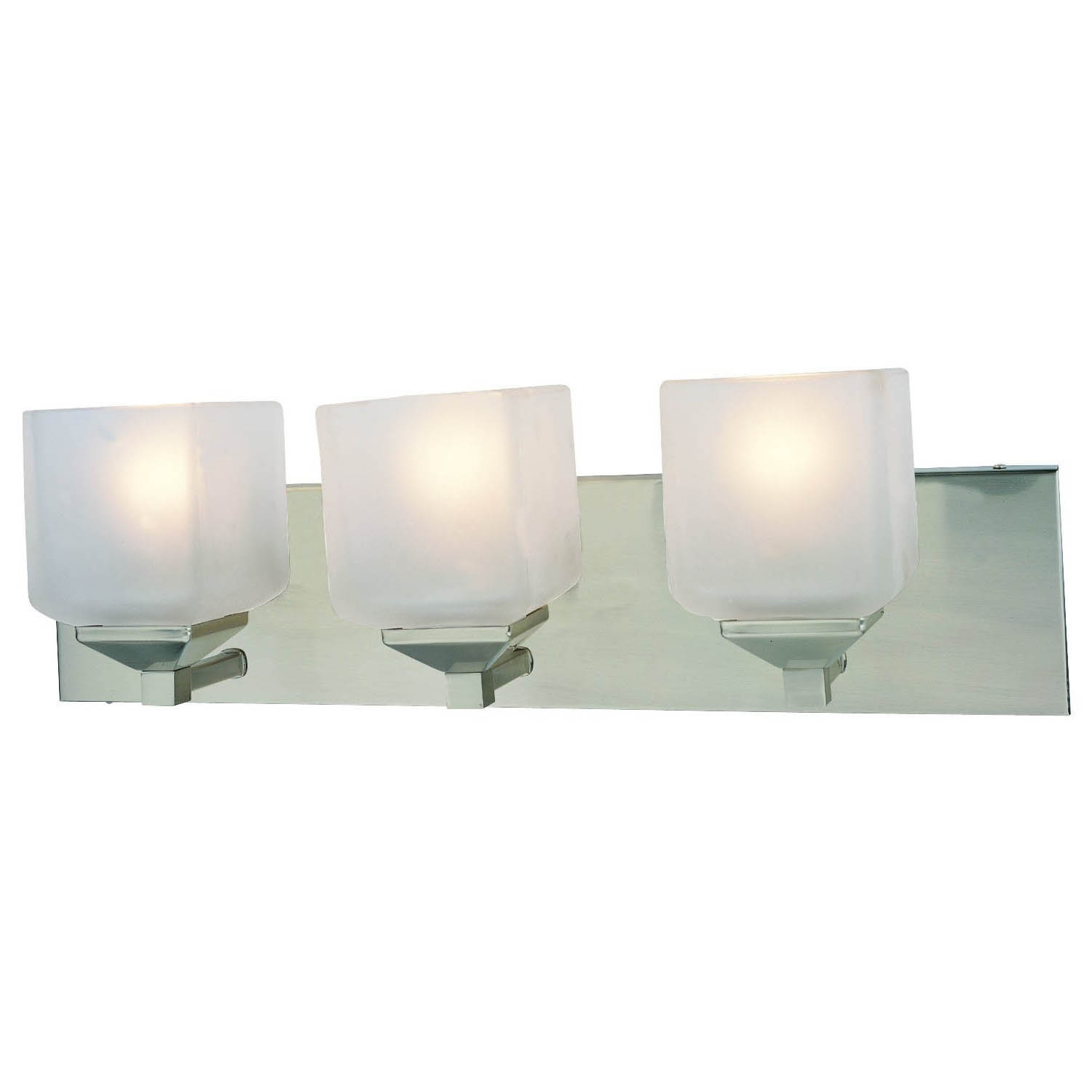 Design House Syrah 3 Light Vanity Lighting in Satin Nickel - 506493
