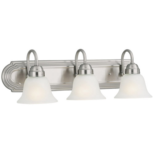 Design House Allante 3-Light Vanity, Satin Nickel Finish - 506584