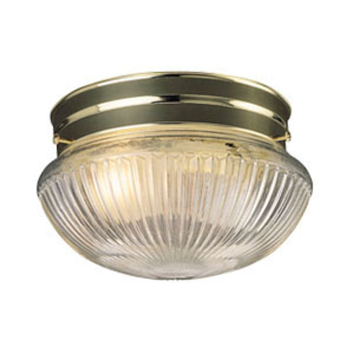 Design House Millbridge 1-Light 7.5-Inch Ceiling Mount, Polished Brass Finish - 507368