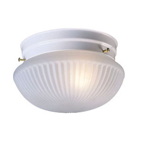 Design House Millbridge 1-Light 7.5-Inch Ceiling Mount, Textured White Finish - 507376