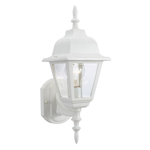 Design House Maple Street Outdoor Uplight, 6inch by 17inch, White Die-Cast Aluminum Finish - 507574