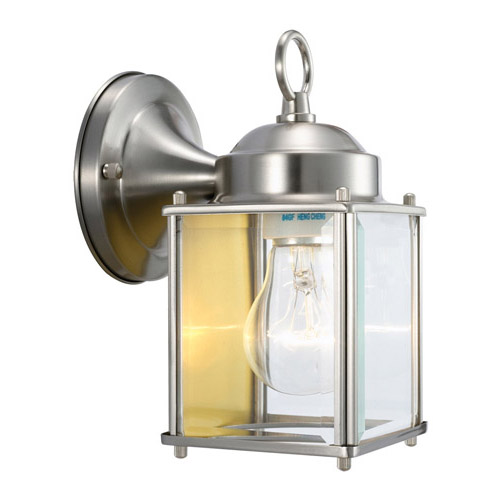 Design House Coach Outdoor Downlight, 4.5inch by 8inch, Satin Nickel Finish - 507863