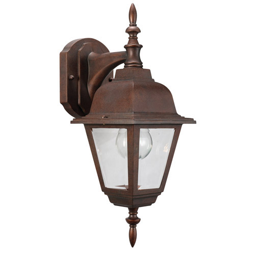 Design House Maple Street Outdoor Downlight, 6inch by 17inch, Washed Copper Die-Cast Aluminum Finish - 511469