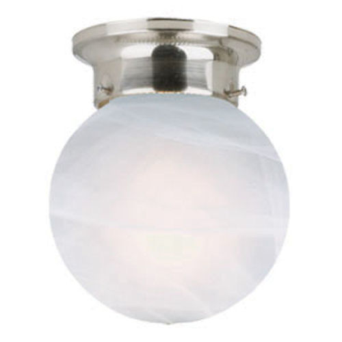 Design House Millbridge 1-Light Globe Ceiling Mount, Satin Nickel Finish - 511592