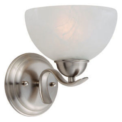 Design House Trevie 1-Light Wall Sconce, Satin Nickel Finish - 512517