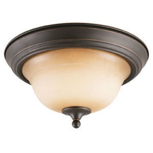 Design House Cameron 2-Light Ceiling Mount, Oil Rubbed Bronze Finish - 512616