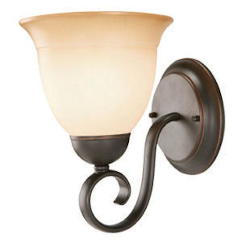Design House Cameron 1-Light Wall Sconce, Oil Rubbed Bronze Finish - 512657