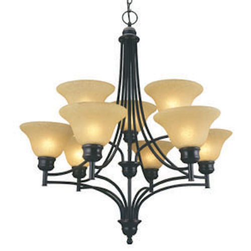 Design House Bristol 9-Light Chandelier, Oil Rubbed Bronze Finish - 512855