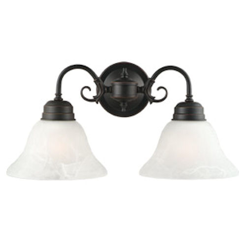 Design House Millbridge 2-Light Wall Mount, Oil Rubbed Bronze Finish - 514471