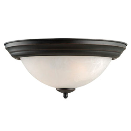 Design House Millbridge 2-Light 13.25-Inch Ceiling Mount, Oil Rubbed Bronze Finish - 514489