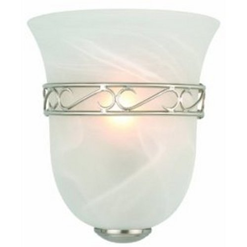 Design House Marlowe 1-Light Wall Sconce, Satin Nickel Finish - 514588
