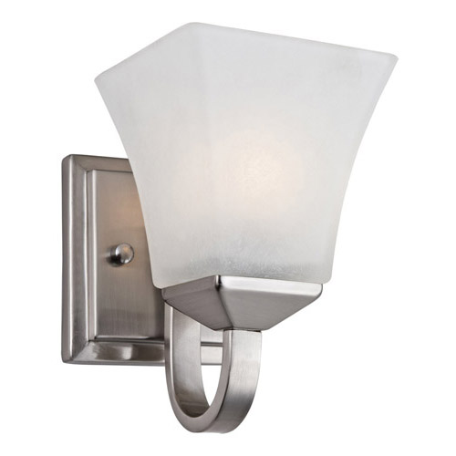 Design House Torino 1-Light Wall Sconce, Satin Nickel Finish - 514745
