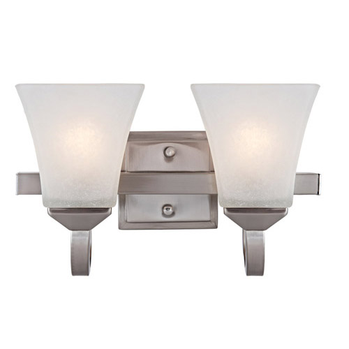 Design House Torino 2-Light Vanity Light, Satin Nickel Finish - 514752