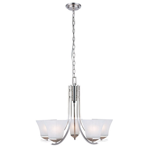 Design House Torino 5-Light Chandelier, Satin Nickel Finish - 514836