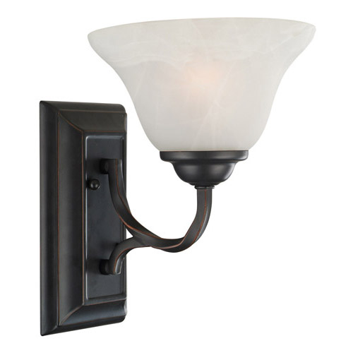 Design House Drake 1-Light Wall Sconce, Oil Rubbed Bronze Finish - 514927