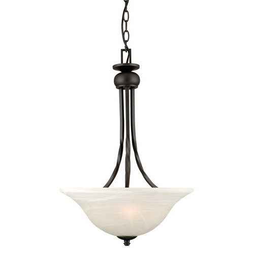 Design House Drake 2-Light Pendant, Oil Rubbed Bronze Finish - 514950