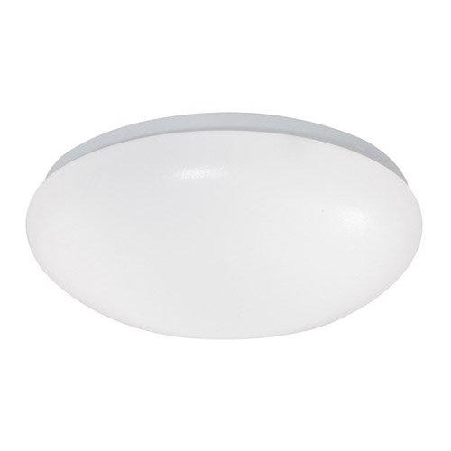 Design House 1-Light Fluorescent Round Cloud Ceiling Mount, White Acrylic Finish - 517276