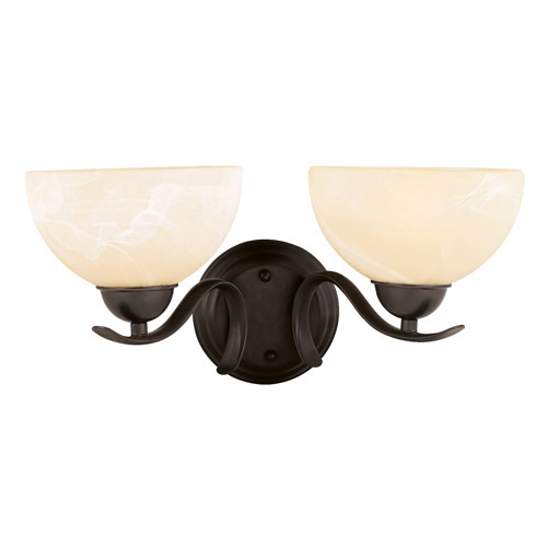 Design House Trevie 2-Light Wall Sconce, Oil Rubbed Bronze Finish - 517458