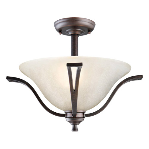 Design House Ironwood 2-Light Semi Flush Ceiling Light, Brushed Bronze Finish - 517631