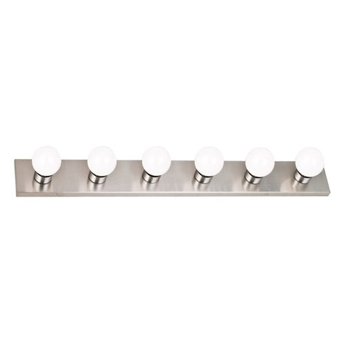 Design House 6-Light Vanity Wall Sconce, Satin Nickel Finish - 519314