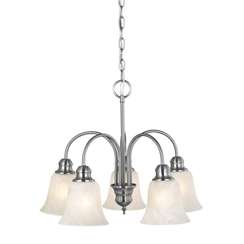 Design House Ridgeway 5-Light Chandelier, Satin Nickel Finish - 519405